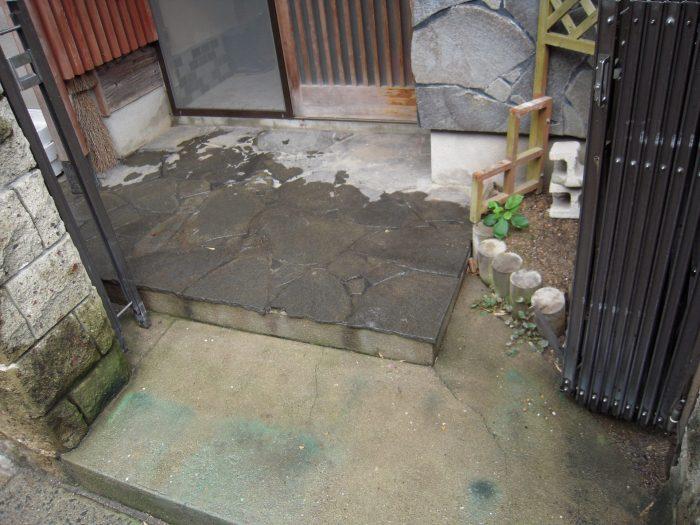 門扉の取替と段差解消工事